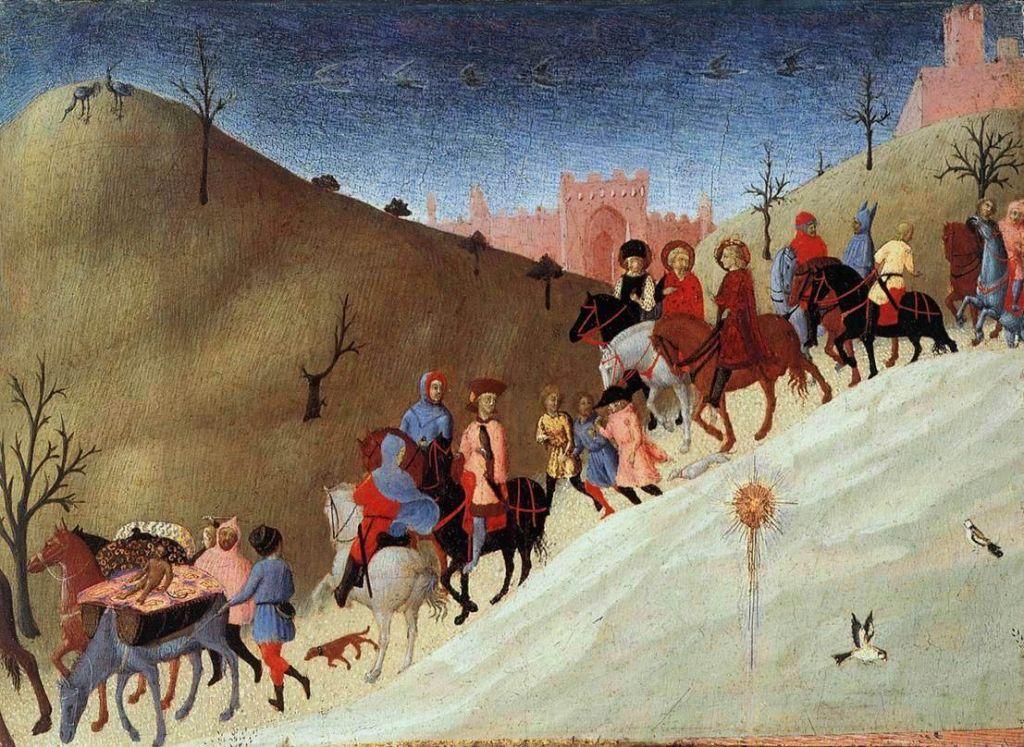 Сассетта. Путешествие волхвов, 1430-е.