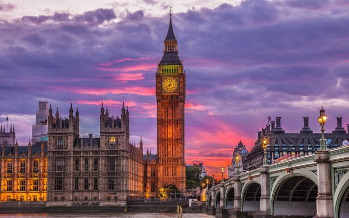 Биг-Бен (башня Елизаветы), Вестминстерский дворец, Лондон, Великобритания